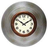 Infinity Instruments Mid-Century Decorative Clock - Silver/Bronze