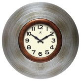 Infinity Instruments Mid-Century Decorative Wall Clock Silver/Bronze