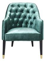 Eichholtz Cyrus Armchair Upholstery Color: Blue