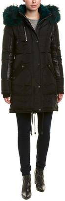 Nicole Benisti Chelsea Leather-Trim Down Coat