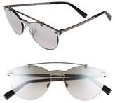 Ermenegildo Zegna Men's 55Mm Retro Sunglasses - Black/ Grey/ Silver