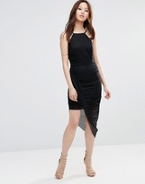 Wal G Lace Dress With Aysemmetric Hem
