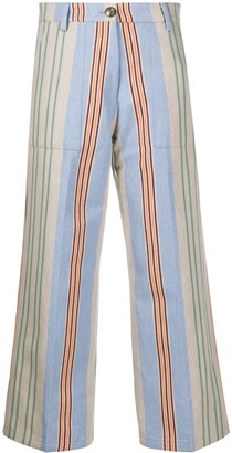 Etro Striped Cropped Trousers