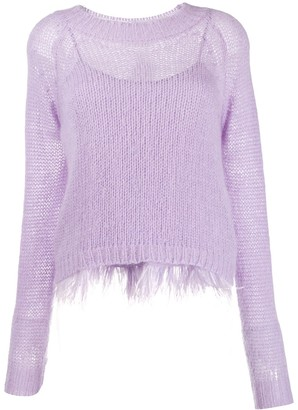 Twin-Set Feather Frill Jumper