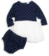 Splendid Baby's Two-Piece Star-Print Tulle Dress & Bloomers Set