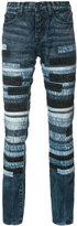PRPS striped slim-fit jeans
