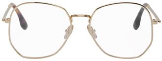 Victoria Beckham Gold Angular Sunglasses