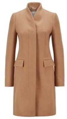 HUGO BOSS Formal coat in a melange wool blend