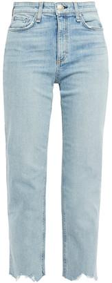 Rag & Bone Nina Cropped Distressed High-rise Straight-leg Jeans
