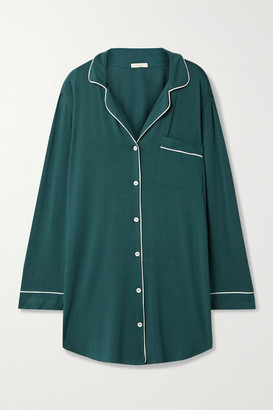 Eberjey Gisele Piped Stretch-jersey Nightdress - Green