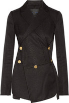 Proenza Schouler Cotton And Wool-blend Jacquard Blazer - Black