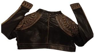 La Perla Black Leather Jacket for Women
