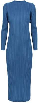 Pleats Please Long-Sleeved Dress