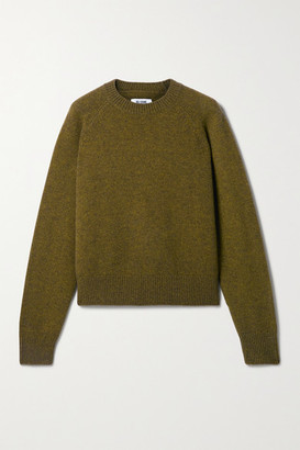 RE/DONE 50s Merino Wool-blend Sweater - Army green