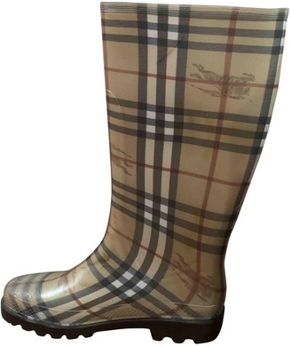 Burberry Beige Rubber Boots