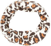 Neiman Marcus Leopard Print Circle Scarf
