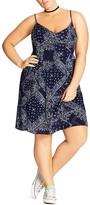 City Chic Bandana Print Dress