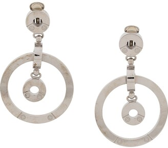 Gianfranco Ferré Pre Owned 2000s Cut-Out Dangling Hoop Earrings