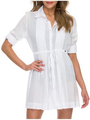 Jantzen Resort Drawstring Shirt DreShort Sleeve