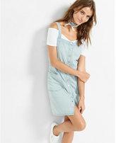 Express denim button front sleeveless mini dress
