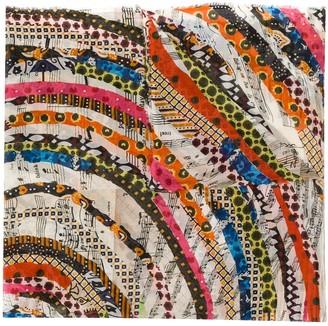 Faliero Sarti Abstract Stripe Print Scarf