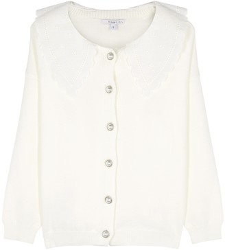 Olivia Rubin Courtney embroidered stretch-knit cardigan