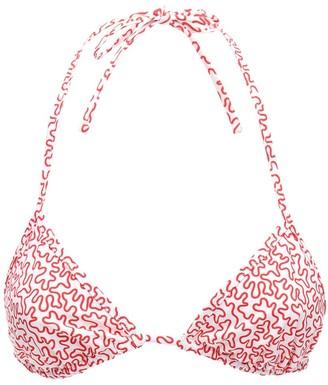 Fisch Coco Printed Triagle Bikini Top