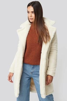 Trendyol Faux Fur Long Coat White