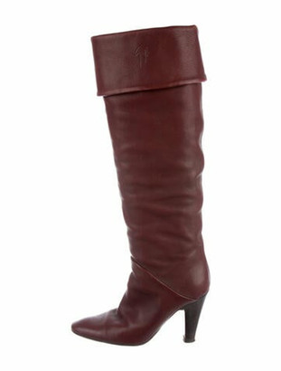 Giuseppe Zanotti Leather Slouch Boots Brown