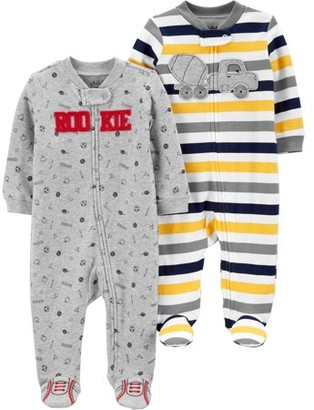 Child of Mine by Carter's Baby Boy Zip-up Sleep 'N Play Pajamas, 2-pack