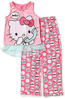 Komar Kids Big Girls 7-16 Hello Kitty Tank and Pants Pajama Set