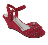 Zoey Red Cutout Wedge Sandal