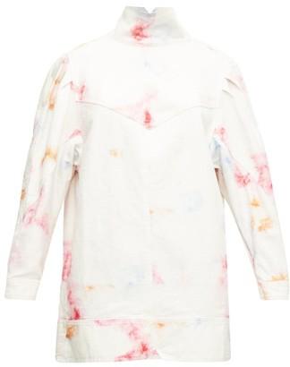Isabel Marant Ervalia Tie-dye Denim Mini Dress - Ivory Multi