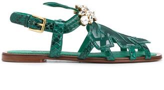 Dolce & Gabbana Embellished-Detail Sandals