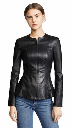 Theory Women's Leather Movement VIP-UP Jacket