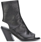 A.F.Vandevorst cut out ankle boots - women - Leather/Sheep Skin/Shearling - 36