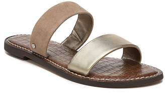 Sam Edelman Gala Metallic Leather Suede Sandals
