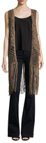 Leather Crochet Vest
