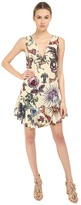 Just Cavalli Love Royal Printed V-Neck Dress
