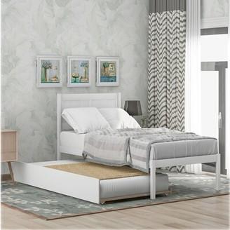 Latitude Run Darth Twin Solid Wood Low Profile Platform Bed