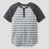 Cat & Jack Boys' Henley Shirt Cat & Jack - Heather Grey