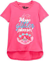 Freeze Hot Pink 'More Glitter Please!' Hi-Low Tee - Girls