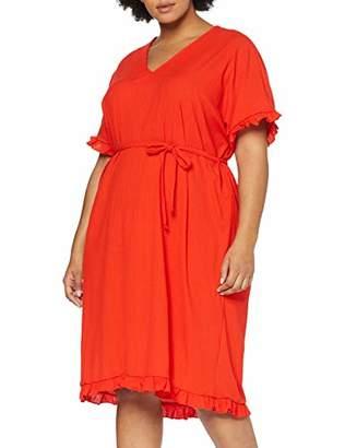 Junarose Women's Jrebony Ss Below Knee Dress - S Red Grenadine, 18 (Size: M-44/46)