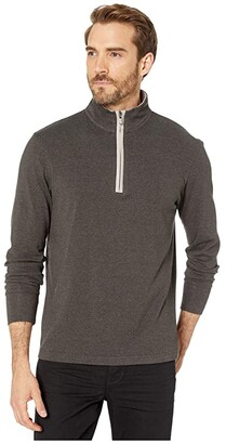 The Normal Brand Puremeso 1/4 Zip (Charcoal) Men's Clothing