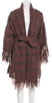 Christian Lacroix Wool Fringe-Trimmed Coat