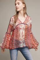 Maeve Latona Silk Peasant Top