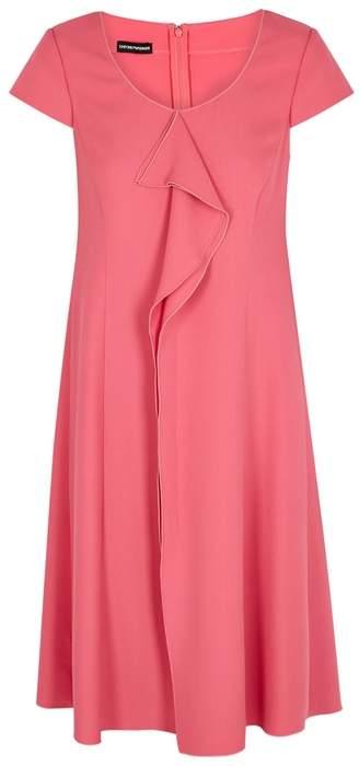 Emporio Armani Pink Ruffle-trimmed Dress