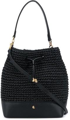 Lauren Ralph Lauren Debby Straw bucket bag