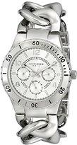 Akribos XXIV Women's AK642SS Ultimate Multi-Function Silver-Tone Diver Style Twist Chain Bracelet Watch