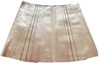 Jitrois Gold Leather Skirt for Women